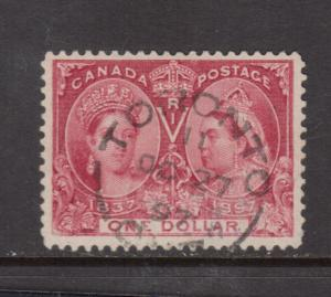 Canada #61 Very Fine Used With Oct 27 1897 CDS Toronto Cancel
