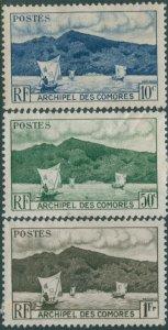 Comoro Islands 1950 SG1-3 Anjouan Bay MH