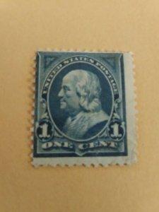 SCOTT 247 blue 1894 bureau issue unwatermarked mint