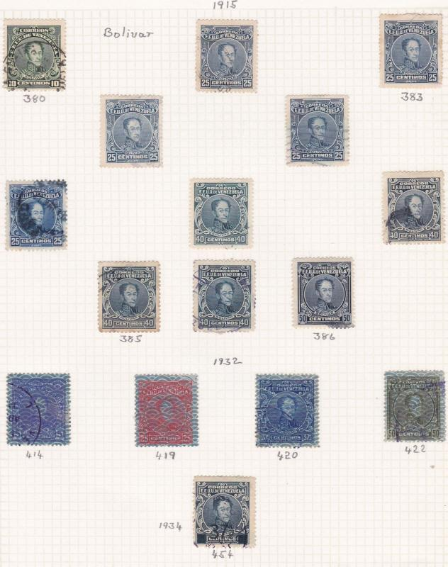 venezuela 1915 stamps on  album page ref r11893