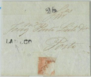 58216 -  PORTUGAL  -  POSTAL HISTORY: PREFILATELIC COVER from LAMEGO 1848