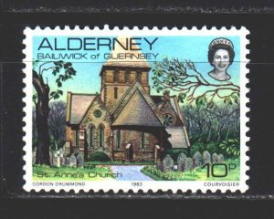 Alderney. 1983. 4 of a series. Church of St. Anne. MNH.