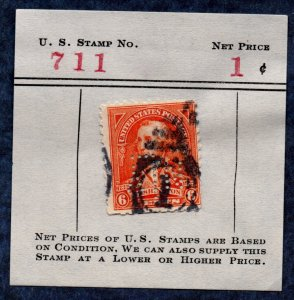 US Scott #711 6c George Washington (1932) Used