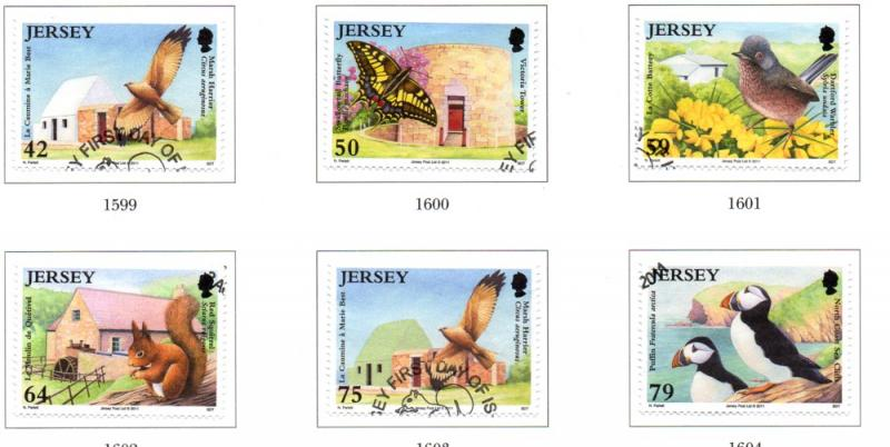 Jersey Sc 1528-33 2011 National Trust stamp set used
