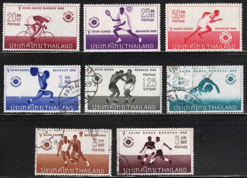 THAILAND Scott 442-449 mixed MH* and Used  set