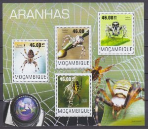 2014 Mozambique 7560-7563KL Insects - Spiders 10,00 €