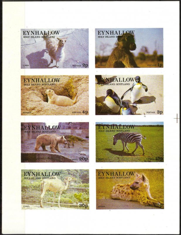 {E281} Eynhallow Scotland Fauna Animals Sh.8 Imperf. MNH Cinderella