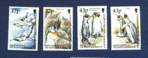 SOUTH GEORGIA - # 262-265  - MNH -  Penguin Birds - 2000