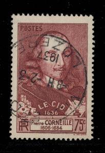 FRANCE - 1937 - CàD Autoplan  VILLEFORT / LOZÈRE  /Yv.335 75c CORNEILLE TB