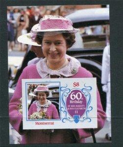 Montserrat Souvenir Sheet Imperf 60th Birthday of Elizabeth II Proof/Essay? 4046