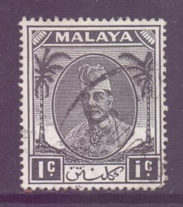 Malaya Kelantan Scott 50 - SG61, 1951 Sultan 1c used