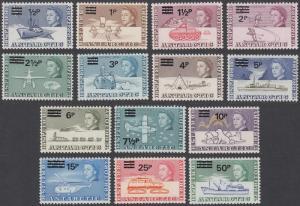 British Antarctic Territories 25-38 MNH CV $133.65