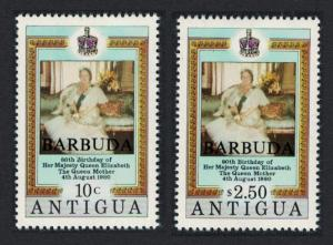 Barbuda 80th Birthday of the Queen Mother 2v SG#533-534