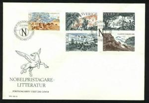 Sweden. FDC Cachet 1985  Nobel Prize Literature. Engraver Martin Morck.