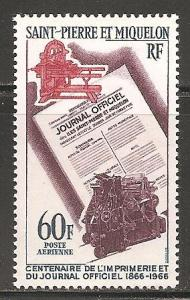 St. Pierre and Miquelon #C34 MNH CV$13.50 Government Printers [103907]