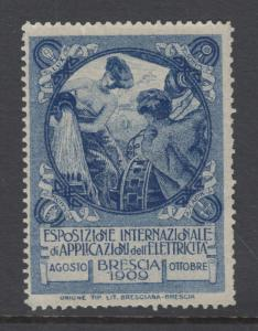 Spain, 1909 Brescia International Exposition for Electricity, fresh, VF, MNH