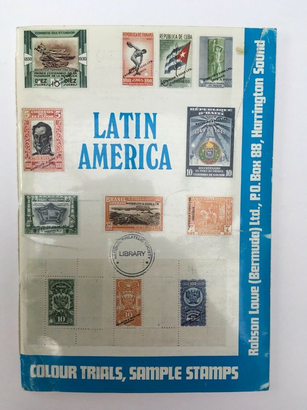 Latin America - Waterlow Die Proofs, Colour Trials & Sample Stamps Catalogue