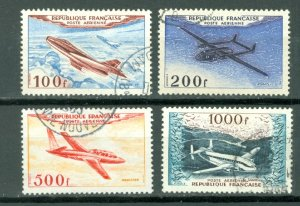 FRANCE AIRPLANES #C29-32...SET...USED NO THINS..$29.00