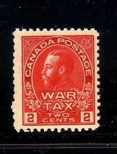 Canada Sc MR2 1915 2c carmine G V War Tax stamp mint NH