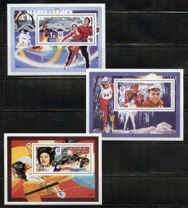 North Korea Scott# 3417 Lillehammer Olympics set of deluxe s/sheets  mint nh