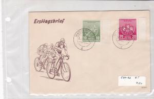 german democratic republic 1950s stamps cover ref 19201