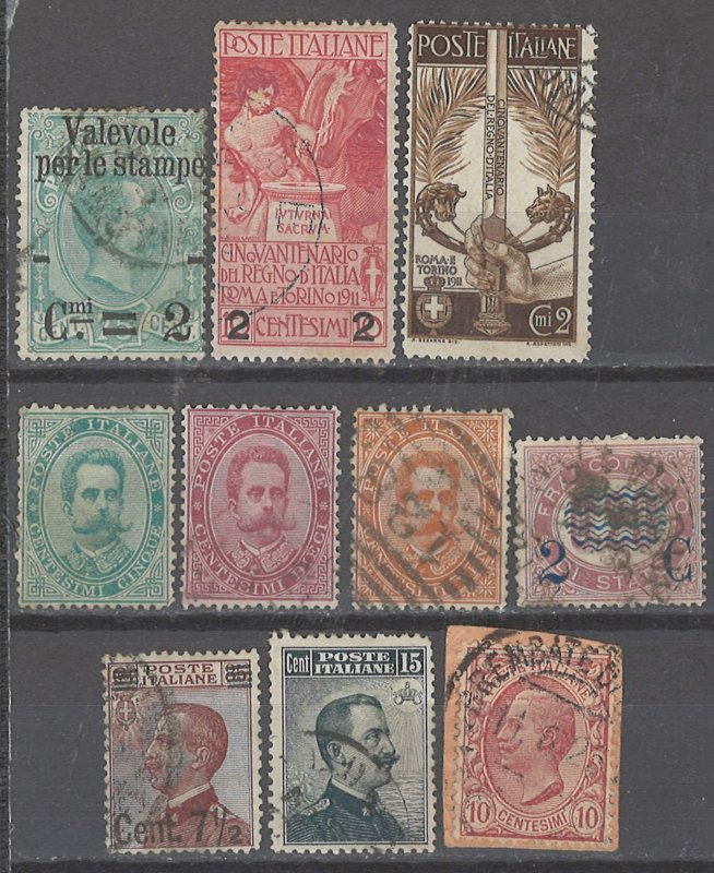 COLLECTION LOT # 2400 ITALY 10 STAMPS 1879+ CV=$28