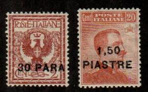 Italy Offices In Turkish Empire #44-45  Mint CV $4.50