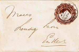 Egypt 1m Sphinx and Pyramid Envelope c1891 Cairo Domestic use.