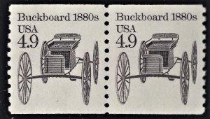 US 2124 MNH VF 4.9 Cent Buckboard 1880's Pair