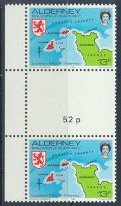 Alderney  SG A7  SC# 7  Scenes Map MNH Gutter Pair see scan