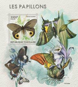 TOGO - 2021 - Butterflies - Perf Souv Sheet - Mint Never Hinged