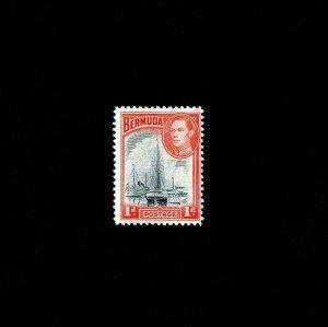 BERMUDA - 1940 - KG VI - HAMILTON HARBOR - SAILBOAT #118 MINT - MNH SINGLE!