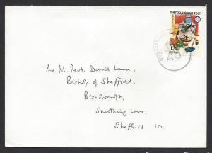 GREAT BRITAIN SHEFFIELD SCOUT POST Trp48 1992 13p TOYS Christmas Delivery Cover