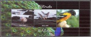 Malawi 2012 Birds (6) MNH Cinderella !