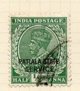 Indian States Patiala 1935-39 Early Issue Fine Used 1/2a. Optd 075648