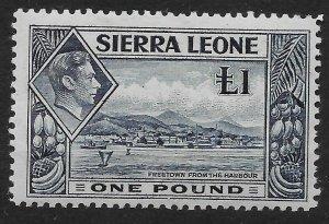 SIERRA LEONE SG200 1938 £1 DEEP BLUE MTD MINT