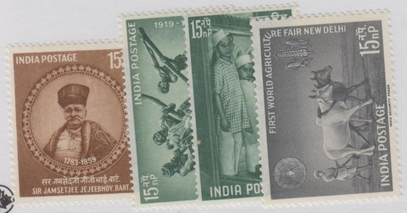 INDIA 324-327 MINT NEVER HINGED OG ** NO FAULTS EXTRA FINE