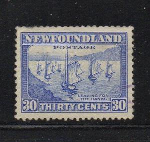 Newfoundland Sc 198 1932 30c fishing fleet stamp used