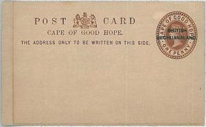 BRITISH BECHUANALAND  -  POSTAL STATIONERY : Higgings & Gage #1