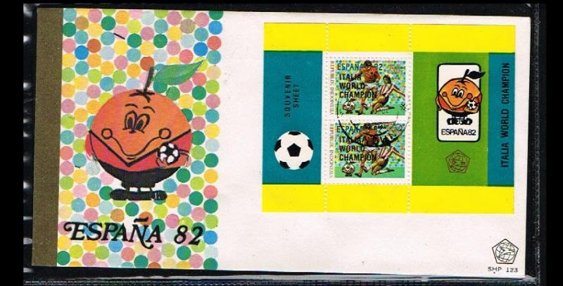 1982 - Indonesia FDC SHP 123_5 - Sport - Football (Soccer) - Worldchampionshi...