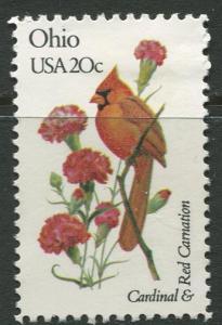 USA - Scott 1987 - State Birds & Flowers - 1982 - MNG - Single 20c Stamp