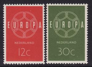 Netherlands #379-80 F-VF Mint NH ** Europa 1959