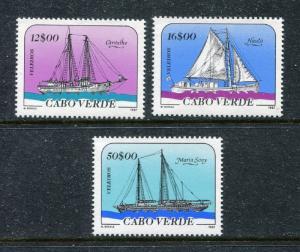Cape Verde 513-514, MNH Ships: Carvalho, Nauta, Maria Sony 1987. x29196