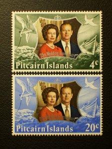 Pitcairn Islands Scott #127-128 mnh