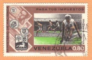 VENEZUELA SC# 1081 **USED** 1974  80c    SEE SCAN