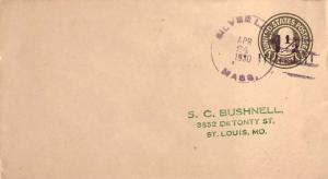 United States Massachusetts Silver Lake 1930 violet 4b-bar  1879-1958  Postal...