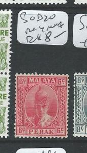 MALAYA PERAK  (P0910B) 6C RED SULTAN SG 109  MOG