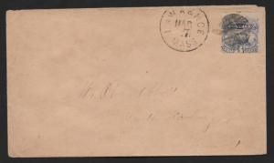US Scott #114 Lawrence MA March 7, 1870 CDS Cancel