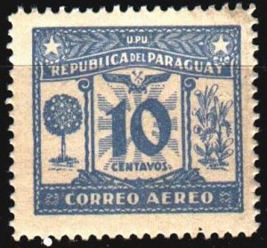 Paraguay. 1935. 381 of the series. War memorial. MLH.