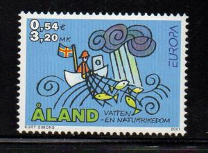 Aland Finland Sc 187 2001 Europa stamp mint NH